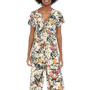Ellen Tracy Floral Jumpsuit